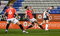 Bolton Wanderers' Ryan Delaney crosses into the penalty area<br /> <br /> Photographer Andrew Kearns/CameraSport<br /> <br /> The EFL Sky Bet League Two - Bolton Wanderers v Salford City - Friday 13th November 2020 - University of Bolton Stadium - Bolton<br /> <br /> World Copyright © 2020 CameraSport. All rights reserved. 43 Linden Ave. Countesthorpe. Leicester. England. LE8 5PG - Tel: +44 (0) 116 277 4147 - admin@camerasport.com - www.camerasport.com