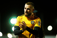 Dan Butler of Newport County after the final whistle of the Sky Bet League Two match between Newport County and Crawley Town at Rodney Parade, Newport, Wales, UK. 19 January 2018
