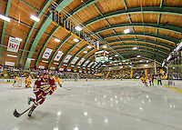 19 February 2016: Boston College Eagle Forward Christopher Brown, a Freshman from Bloomfield Hills, MI, in first period action against the University of Vermont Catamounts at Gutterson Fieldhouse in Burlington, Vermont. The Eagles defeated the Catamounts 3-1 in the first game of their weekend series. Mandatory Credit: Ed Wolfstein Photo *** RAW (NEF) Image File Available ***