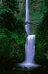 Multnohma Falls in spring colors graces the Columbia River Gorge