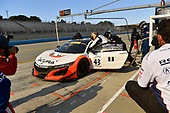 Pirelli World Challenge<br /> Intercontinental GT Challenge California 8 Hours<br /> Mazda Raceway Laguna Seca<br /> Sunday 15 October 2017<br /> Ryan Eversley, Tom Dyer, Dane Cameron, Acura NSX GT3, GT3 Overall pit stop.<br /> World Copyright: Richard Dole<br /> LAT Images<br /> ref: Digital Image RD_PWCLS17_351