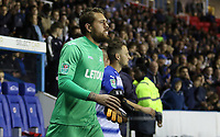 Kristoffer Nordfeldt of Swansea City prior to kick off of the Carabao Cup Third Round match between Reading and Swansea City at Madejski Stadium, Reading, England, UK. Tuesday 19 September 2017
