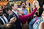 © Joel Goodman - 07973 332324 . 01/05/2015 . Manchester , UK . Nick Clegg poses for a selfie with a party supporter after a Liberal Democrat party rally at Chorlton-cum-Hardy Golf Club . Liberal Democrat party leader Nick Clegg visits the constituency of Manchester Withington to deliver a speech on the NHS and campaign with local candidate John Leech . Photo credit : Joel Goodman