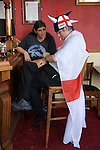 English football fans Southend on Sea Essex England 2006. World cup supporters couple fed up drowning ones sorrows. 2000s,