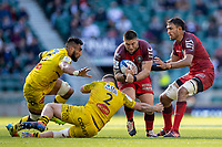 22nd May 2021; Twickenham, London, England; European Rugby Champions Cup Final, La Rochelle versus Toulouse; Pierre Bourgarit of La Rochelle makes a tackle