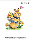 EASTER, OSTERN, PASCUA, paintings+++++,KL4585/2,#e#, EVERYDAY ,rabbit,rabbits ,sticker,stickers,