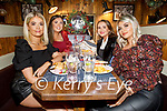 Claire Jordan, Christina Foley, Orlaith O'Shea and Kayley O'Keeffe enjoying the evening in the Fiddler on Saturday.