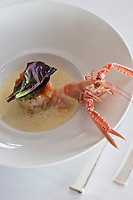 Europe/France/Bretagne/56/Morbihan/Port-Louis:  Pressé de tourteau et coque de langoustine, recette de Patrice Gahinet - Restaurant: Avel-Vor