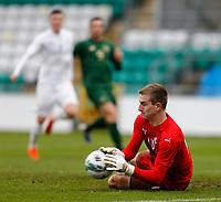 15th November 2020; Tallaght Stadium, Dublin, Leinster, Ireland; 2021 Under 21 European Championships Qualifier, Ireland Under 21 versus Iceland U21; Patrik Gunnarsson makes a save for Iceland