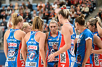6th June 2021; Ken Rosewall Arena, Sydney, New South Wales, Australia; Australian Suncorp Super Netball, New South Wales, NSW Swifts versus Giants Netball; Helen Housby of NSW Swifts during the team huddle