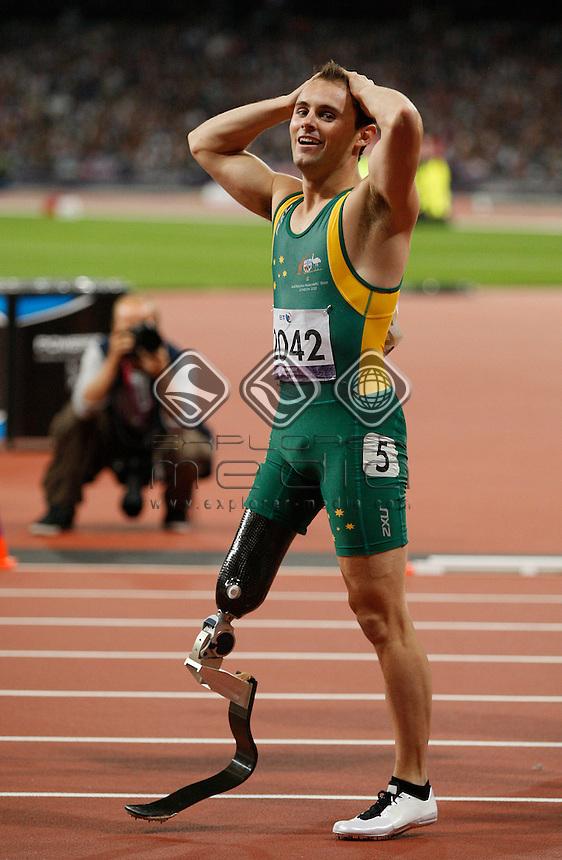 Scott Reardon (AUS), Men's 100m - T42 Final.<br /> Athletics, Olympic Stadium (Friday 7th Sept)<br /> Paralympics - Summer / London 2012<br /> London England 29 Aug - 9 Sept <br /> © Sport the library/Joseph Johnson