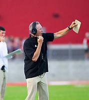 Mike Adams head football coach of Farmington against Springdale at Cardinals Stadium, Farmington, Arkansas on Friday, September 11, 2020 / Special to NWA Democrat-Gazette/ David Beach