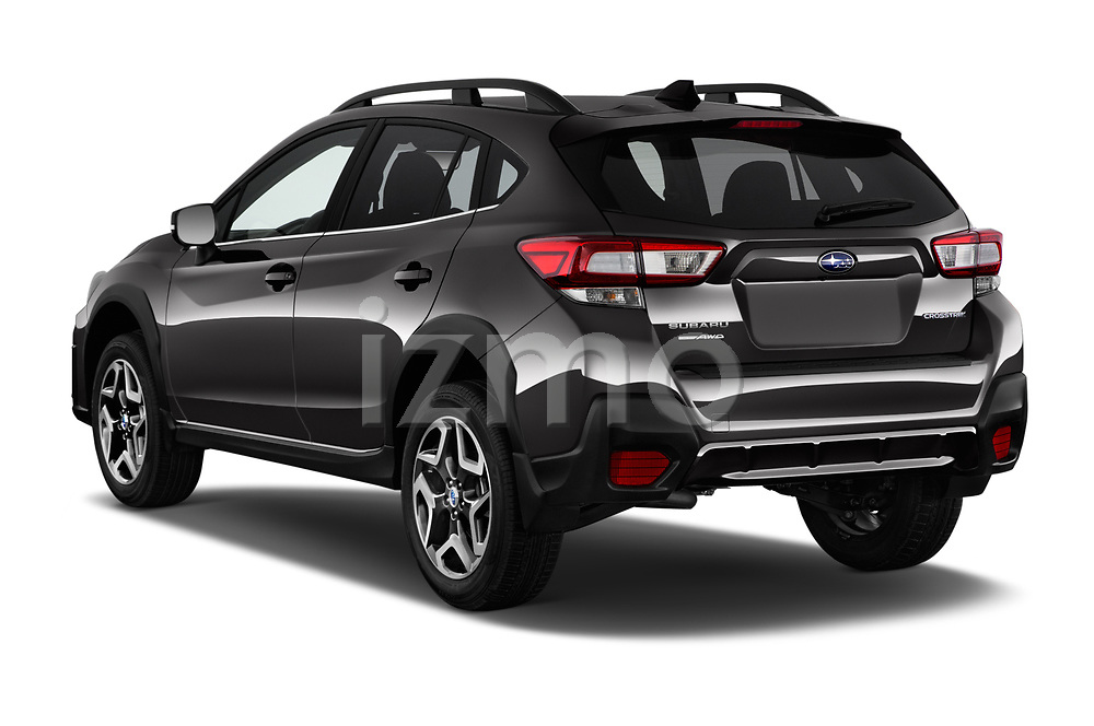 Car pictures of rear three quarter view of a 2018 Subaru Crosstrek Limited CVT 5 Door SUV angular rear