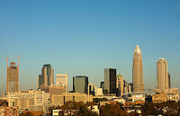 The uptown Charlotte is shown at sunrise in Charlotte, N.C.