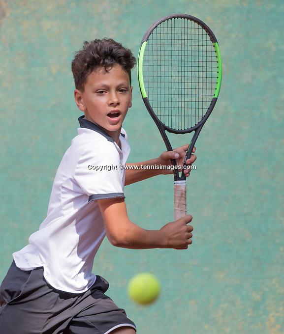 Hilversum, Netherlands, August 9, 2017, National Junior Championships, NJK, Noah Gabriel<br /> Photo: Tennisimages/Henk Koster