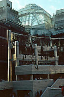 London:  Broadgate--above skating rink.  SOM--ARUP.  Photo Jan. '90.