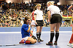 Berlin, Germany, February 10: During the FIH Indoor Hockey World Cup quarterfinal match between Germany (black) and Poland (red) on February 10, 2018 at Max-Schmeling-Halle in Berlin, Germany. Final score 3-1. (Photo by Dirk Markgraf / www.265-images.com) *** Local caption *** Marlena RYBACHA #16 of Poland