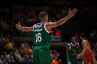 VALENCIA, SPAIN - MARCH 27: Nemanja Nedovic during ENDESA LEAGUE Play Off match between Valencia Basket Club and Unicaja at Fonteta Stadium on March, 2016 in Valencia, Spain