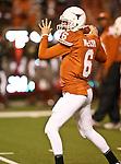 Texas Longhorns quarterback Case McCoy (6) in action during the Texas A & M vs. Texas Longhorns football game at the Darrell K Royal - Texas Memorial Stadium in Austin, Tx. Texas A & M defeats Texas 24 to 17....