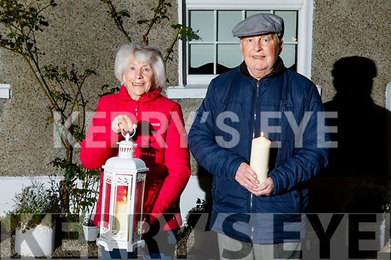 Annette and Freddie Lynch of St Brendan's Park observed the Shine Your Light for our healthcare and essential workers at 9pm on Saturday night.