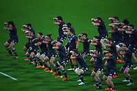 The Maori All Blacks perform a haka before the international rugby match between Manu Samoa and the Maori All Blacks at Sky Stadium in Wellington, New Zealand on Saturday, 26 June 2021. Photo: Dave Lintott / lintottphoto.co.nz