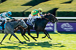 November 7, 2020 : Audarya, ridden by Pierre-Charles Boudot, wins the Maker's Mark Filly & Mare Turf on Breeders' Cup Championship Saturday at Keeneland Race Course in Lexington, Kentucky on November 7, 2020. Scott Serio/Eclipse Sportswire/Breeders' Cup/CSM