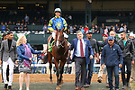 LEXINGTON, KY - April 06, 2018. #12 Analyze It and jockey Jose Ortiz after winning the 30th running of The Kentucky Utilities Transylvania (Grade 3) for owner William Lawrence and trainer Chad Brown at Keeneland Race Course.  Lexington, Kentucky. (Photo by Candice Chavez/Eclipse Sportswire/Getty Images)