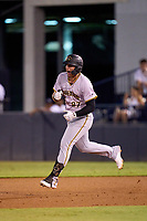 Bradenton Marauders Abrahan Gutierrez (27) celebrates as he rounds the bases after hitting a home run during Game Three of the Low-A Southeast Championship Series against the Tampa Tarpons on September 24, 2021 at George M. Steinbrenner Field in Tampa, Florida.  (Mike Janes/Four Seam Images)