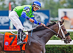 October 4, 2014:  By The Moon, ridden by Jose Ortiz, wins the Frizette Stake at Belmont Park in Elmont, New York. Scott Serio/ESW/CSM