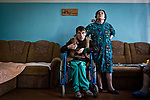 UKRAINE: An eldery home at 3 km from the frontline of Hranitne<br /> <br /> UKRAINE: Une maison de retraite à 3 km de la ligne de front de Granite
