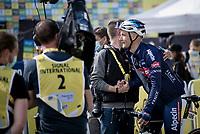 Jonas Rickaert (BEL/Alpecin Fenix) happy with Van der Poels (and GC leading) stage win<br /> <br /> Stage 2 from Perros-Guirec to Mûr-de-Bretagne, Guerlédan (184km)<br /> 108th Tour de France 2021 (2.UWT)<br /> <br /> ©kramon