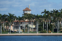 View of Mar-A-Lago As President Trump Is Set To Arrive After Ending Presidency Term
