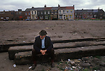 Toxteth Liverpool Lancashire after the Riots 1981.<br /> <br /> Mr.John Hopkins