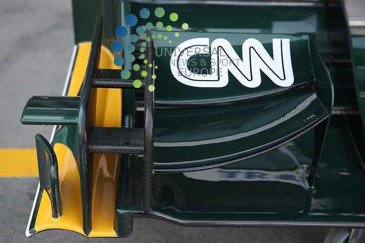 F1 GP of Australia, Melbourne 26. - 28. March 2010.Lotus front wings endplates - CNN..Picture: Hasan Bratic/Universal News And Sport (Europe) 26 March 2010.