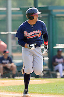 Outfielder Edison Sanchez (72) of the Atlanta Braves farm system in a Minor League Spring Training intrasquad game on Wednesday, March 18, 2015, at the ESPN Wide World of Sports Complex in Lake Buena Vista, Florida. (Tom Priddy/Four Seam Images)