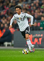 Leroy SANE, DFB 24 ,     <br /> ENGLAND - Germany 0-0<br /> Football: International Friendly, London, Great Britain, 10.11.2017<br /> <br />  *** Local Caption *** © pixathlon<br /> Contact: +49-40-22 63 02 60 , info@pixathlon.de