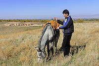 Reiter bei Tokmok, Kirgistan, Asien<br /> rider near Tokmok, Kirgistan, Asia