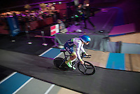 Luka Mezgec (SVN/Orica-GreenEDGE) speeding out of the velodrome to start his prologue<br /> <br /> stage 1: Apeldoorn prologue 9.8km<br /> 99th Giro d'Italia 2016