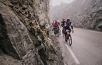 Nicolas Roche (IRE/BMC) leading breakaway group<br /> <br /> 76th Paris-Nice 2018<br /> Stage 7: Nice > Valdeblore La Colmiane (175km)
