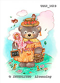 GIORDANO, CUTE ANIMALS, LUSTIGE TIERE, ANIMALITOS DIVERTIDOS, Teddies, paintings+++++,USGI1619,#AC# teddy bears