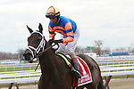Unlimited Budget with John Velazquez wins the 91st running of the Grade II Demoiselle Stakes for 2-year old fillies, going 1 1/8 mile at Aqueduct Racetrack. Trainer Todd Pletcher.  Owner Repole Stables.