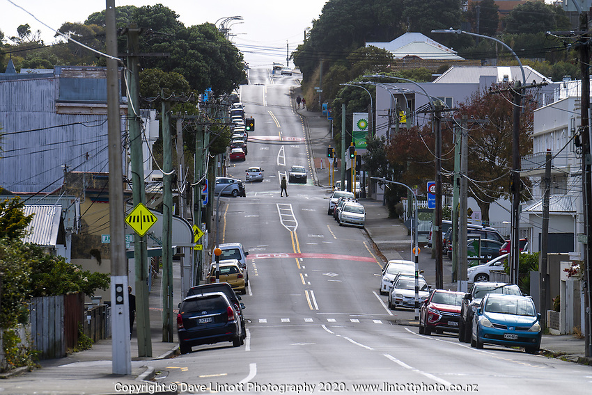 Berhampore shops at midday, Sunday during lockdown for the COVID19 pandemic in Wellington, New Zealand on Sunday, 26 April 2020. Photo: Dave Lintott / lintottphoto.co.nz