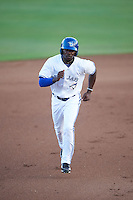 Dunedin Blue Jays center fielder D.J. Davis (6) during a game against the Palm Beach Cardinals on April 15, 2016 at Florida Auto Exchange Stadium in Dunedin, Florida.  Dunedin defeated Palm Beach 8-7 in ten innings.  (Mike Janes/Four Seam Images)