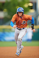 Durham Bulls third baseman Jake Hager (5) running the bases during a game against the Buffalo Bisons on June 13, 2016 at Coca-Cola Field in Buffalo, New York.  Durham defeated Buffalo 5-0.  (Mike Janes/Four Seam Images)