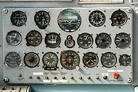 Russisches Instrumentenbrett eines Flugzeugs