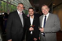 Thierry Arnaud (G) et Philippe Schnobb (D)<br /> au Gala Phenicia 2018<br /> , le 31 mai 2018,a la Caisse de Depot et PLacements du Quebec.<br /> <br /> PHOTO : Agence Quebec Presse
