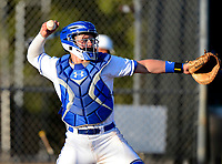 IMG Academy Ascenders catcher Tyler Biggs during a game against the Arlington Country Day Apaches at IMG Academy on March 5, 2013 in Bradenton, Florida.  (Mike Janes/Four Seam Images)