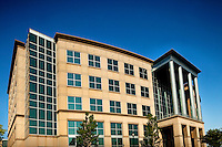 The Simmons Building, corporate offices, are located in the Ballantyne Corporate Park in Charlotte, NC. Ballantyne, a suburb of Charlotte NC, is located near the South Carolina border. The 2,000-acre mixed-use development was created by land developer Howard C. Smokey Bissell.