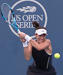 August  17, 2017:  Garbine Muguruza (ESP) battles against Madison Keys (USA),  at the Western & Southern Open being played at Lindner Family Tennis Center in Mason, Ohio.  ©Leslie Billman/Tennisclix/CSM