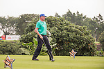 Boris Becker tees off during the World Celebrity Pro-Am 2016 Mission Hills China Golf Tournament on 23 October 2016, in Haikou, Hainan province, China. Photo by Marcio Machado / Power Sport Images